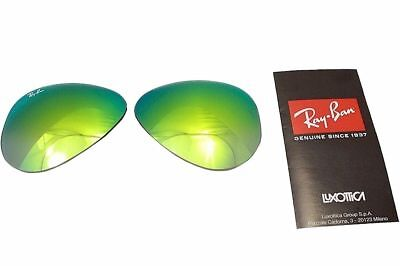 New Authentic RAYBAN Sunglass Lens Replacements RB3025 Aviator Green Mirror 58mm