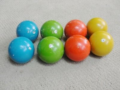 Londero Wood Bocce Set, Made in Italy NO PALLINO JACK BALL yard beach game