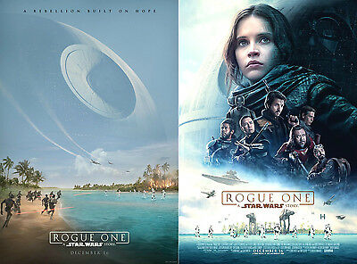 SET of 2 - Movie Poster Original ROGUE ONE: A STAR WARS STORY 13x19 DS