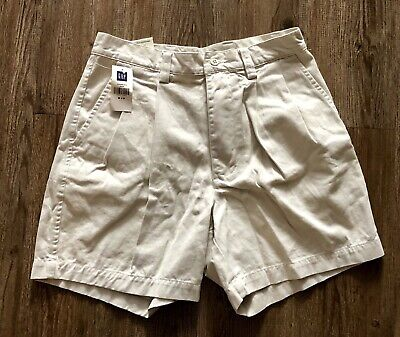 NEW GAP Mens 29 Red Relaxed Fit Regular Shorts Pleated Front 100% Khaki NWT