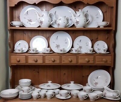 Royal Doulton Tumbling Leaves Dinner Tea & Coffee Service Vintage Excellent
