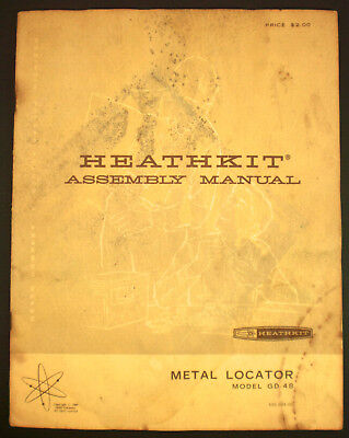 Heathkit Assembly Manual Metal Locator Model GD-48 1969 Complete Service Manual