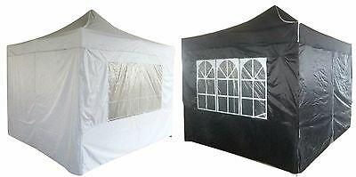 3x3m Gazebo Marquee Pop Up Heavy Duty Pyramid Waterproof Tent Cover White Black