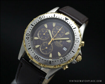 New Old Stock MxOnda Chronograph Diver SS & Gold Plated Miyota Japanese movement