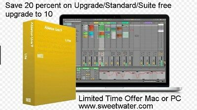 ABLETON LIVE 10  LITE W/ MUSIC PACK Instant Delivery w Big BONUS !