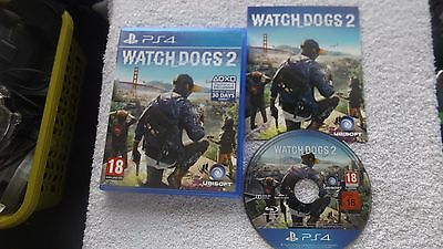 WATCH DOGS 2 watchdogs PS4 PLAYSTATION 4 V.G.C. FAST POST ( action/adventure )
