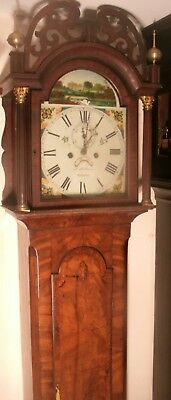 "Antique Mahogany Automation Swan "" Helston "" Longcase / Grandfather Clock"