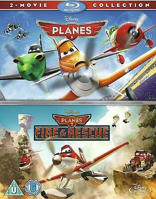 Disney's Planes + Fire & Rescue 2-Film Collection [Blu-ray Set Region Free] NEW