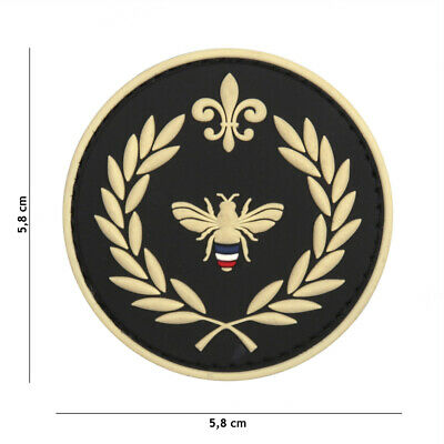 3D PVC morale patch airsoft Napoleon bee black  9048