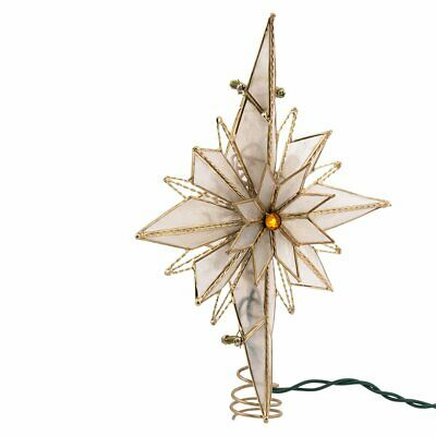 Kurt Adler 10-Light 10-Inch Capiz Classical Multi-Pointed Bethlehem Star Treetop