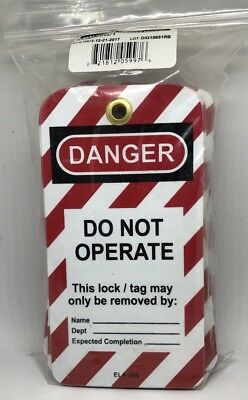 "(25 Pcs) HONEYWELL ELA290G/1 Lockout Safety Tag ""DANGER Do Not Operate"""