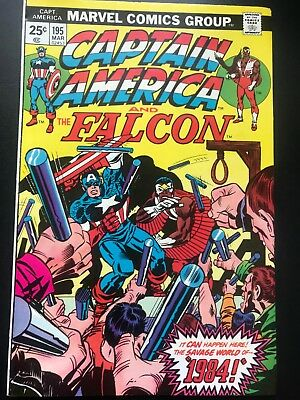 Captain America  #195  Vol 1 Marvel Comics  Cents Issue  VFN