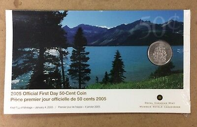 2005 Sealed First Day Royal Canadian Mint Fifty 50 Cent Coin 50C