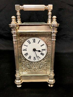 Limited Edition Sterling Silver Vintage Carriage Clock Charles Frodsham London