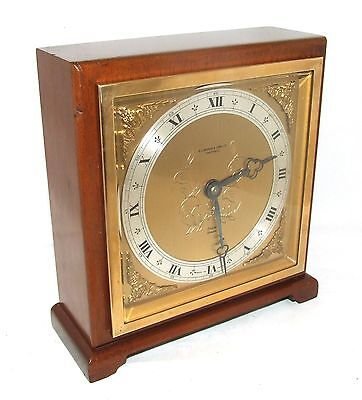 Large ELLIOTT LONDON Walnut Bracket Mantel Clock : H L BROWN & SON LTD SHEFFIELD