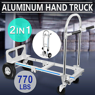 2 in 1 Hand Sack Truck Trolley Office Heavy Duty Foldable 350KG/770LBS New