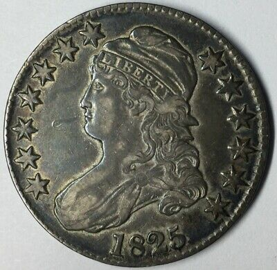 1825 50C Capped Bust Half Dollar XF Uncertified #