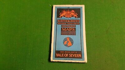 Bartholomew's Revised Half Inch Contoured Map Sheet 18 Vale of Severn