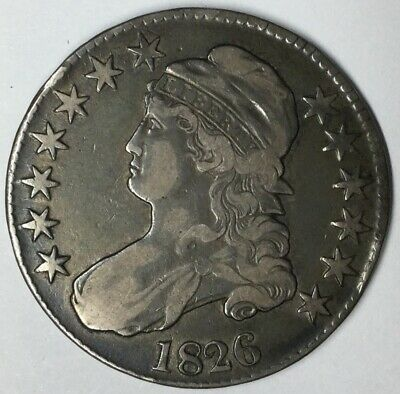 1826 50C Capped Bust Half Dollar VF Uncertified #