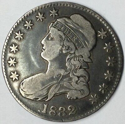 1832 50C Capped Bust Half Dollar VF Uncertified #