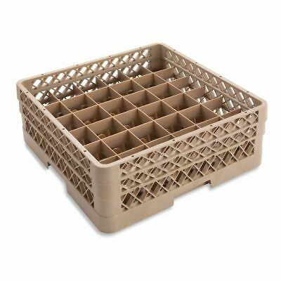 Traex TR7CA Beige 36 Compartment Glass Rack with 2 Extenders
