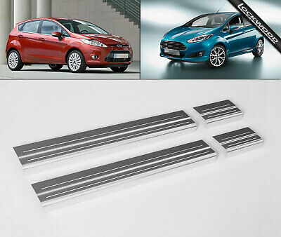 Ford Fiesta Mk7 4 Door (2008-Early 2017) Stainless Sill Protectors / Kick Plates