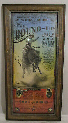 92nd Annual 2011 The Black Hills Round-Up Bob Coronato Rodeo Poster #1143