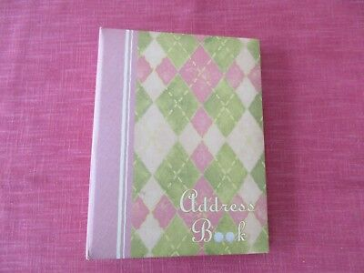 "NEW Lang Address Book ""The Club"", 3-Ring Binder, 8.5""x6.5"""