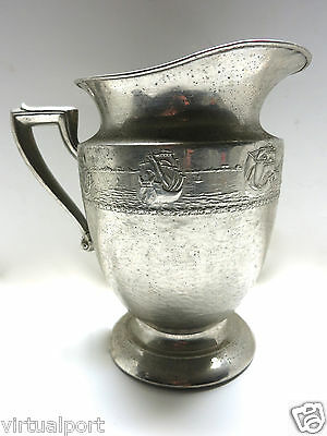 Forman brothers nickel silver plated creamer water vase pot pitcher VINTAGE