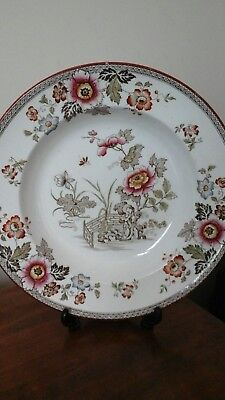 Vintage Eastern flowers Wedgewood? marked Mortlock, Oxford Street, London W soup