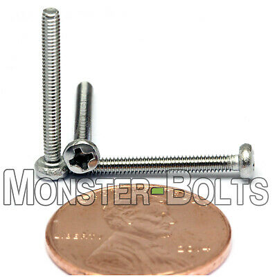Qty - 4,000 M2 x 18mm DIN 7985A Phillips Pan Machine Screw, A2 Stainless Steel