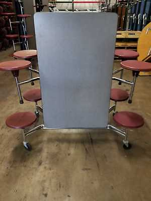 Astounding Refurbished Cafeteria Folding Lunch Table W 16 Stool Machost Co Dining Chair Design Ideas Machostcouk