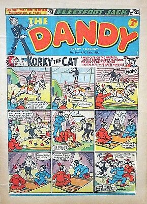 THE DANDY #646 - 10th APRIL 1954  - VERY RARE & COLLECTABLE !! VG+ topper beezer