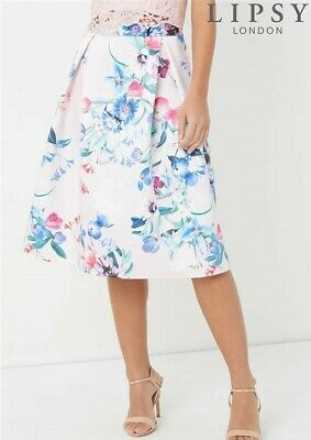 c0c98cafa NEW Lipsy London Prom Coord Skirt Floral Print Womens Girls Size 10 RRP £60
