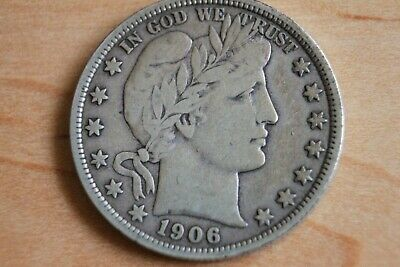 1906-O New Orleans Mint Silver Barber Half Dollar Exact Coin in Photo   HH38
