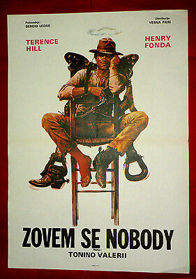 My Name Is Nobody 1973 Terence Hill Henry Fonda Western Unique Exyu Movie Poster