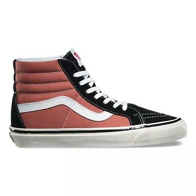 9efd51363548 VANS SK8-HI 38DX ana black rose CANVAS SUEDE SHOES SNEAKERS WOMAN SZ 9/