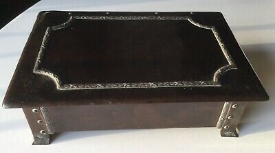 Arts and Crafts copper and silver box by A E Jones Ltd, great patina