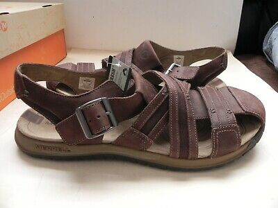 944e65a7a75b Merrell~Traveler Fisher~Espresso Brown Leather Sandals Men s sz US 14~NEW in