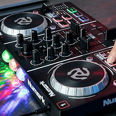 Numark Party Mix Starter DJ Controller with Built-In Sound Card & Light Show