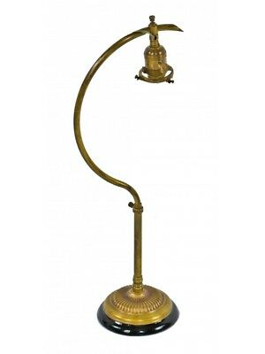 Fully Adjustable C-Arm Faries Table Or Desk Lamp With Tubular Brass Metal