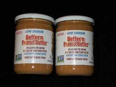 Lot of 2  Better'n Peanut Butter Low Sodium Gluten and Dairy Free Free Shipping