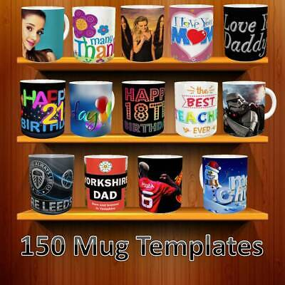 150 + SUBLIMATION MUG TEMPLATES Football Teams Christmas Birthdays Mothers Dads.