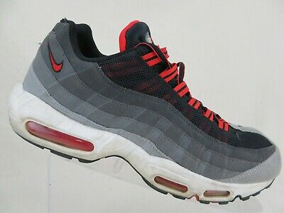 NIKE Air Max 95 Wolf Grey/Red Sz 10 Men Running Shoes