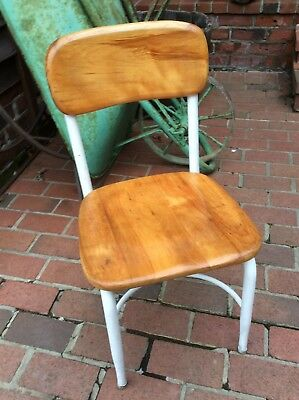 Vintage Heywood Wakefield Student Size Wood / Metal School Chair - Very Nice