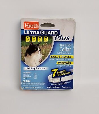 Hartz Ultra Guard Plus Flea & Tick Collar For Cats & For Cats Kittens New Sealed
