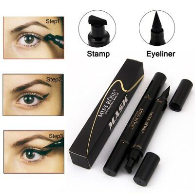 Black Winged wing Eyeliner Stamp Waterproof Eye Liner Pencil Liquid MISS ROSE