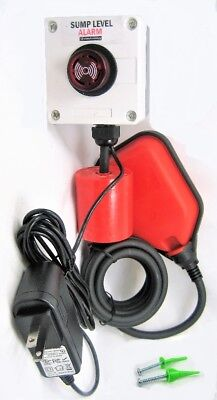 Waterproof SUMP PUMP ALARM 110 VAC Well Overflow, Sewage Power Failure 12 ft 4m