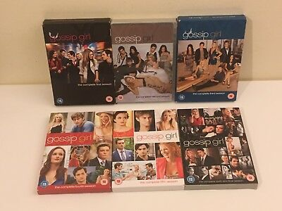 GOSSIP GIRL COMPLETE DVD COLLECTION SEASON 1-2-3-4-5-6 Bundle Joblot Tested