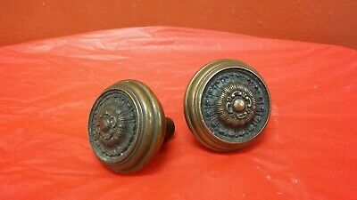 Pair of  Quality Solid Brass Antique Victorian Door Knobs  lot 3
